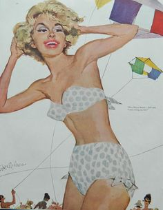 Pinup Blonde Magazine Art  pulp fiction 1960 by DustyDiggerLise, $8.00