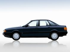 Audi 80. 1st car only in white.
