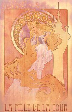Rapunzel / Tangled - Art nouveau - Chris Hill (~chill07)