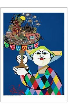 This is an original vintage 1981 Danish Tivoli poster designed by the well known listed Danish artist Bjorn Wiinblad (Denmark/Switzerland Kids Poster, New Poster, Type Posters, Poster Prints, Vintage Prints, Vintage Posters, Hanging Posters, Online Posters, Beautiful Posters