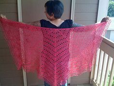 Eva's Shawl. This is a top down shawl pattern which should work with any yarn weight.