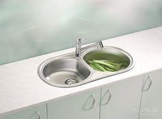 AS-Fremont 50 double sinks stainless Stainless Steel Double Sink, Undermount Stainless Steel Sink, Undermount Sink, Stainless Kitchen, Modern Interior, Modern Decor, Corner Sink, External Doors, Cleanser