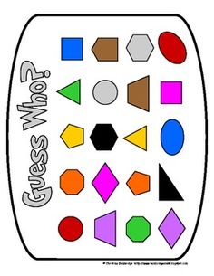 Guess My Shape Geometry Game