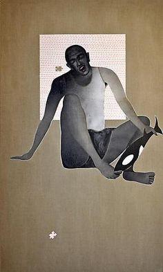 Khaled Takreti 'Il s'appelle (Aïe)' 195 x 117 cm. Acrylic on Canvas 2011