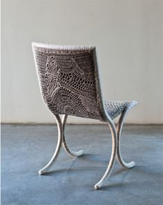 Chair...inspiration for use of different stitches in same color....c