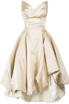 Vintage style Gold intermission length Wedding dress