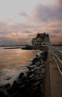 Casino in Constanta, Romania Places Around The World, Oh The Places You'll Go, Places To Travel, Places To Visit, Around The Worlds, Wonderful Places, Beautiful Places, Constanta Romania, Milan Kundera
