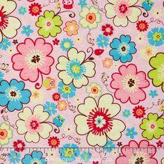 Happy Flappers - Main Pink Yardage - Kelly Panacci - Riley Blake