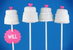 wedding cake pops I want to make for my sister-in-law's bridal shower