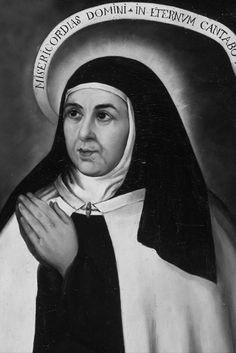 Santa Teresa de Jesus, Virgem e Doutora da Igreja. Fundadora do Carmelo Descalço. Imagem em P&B.