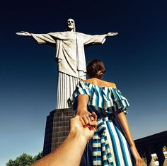 122. #followmeto Christ the Redeemer statue in Rio (the 122nd pic of the photo series by Russian Photographer, Murad Osmann)