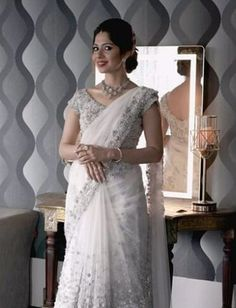 Christian Bridal Saree, Christian Weddings, Christian Bride, Bridal Sarees, Saree Wedding, Wedding Bride, Bridal Dresses, Wedding Ideas