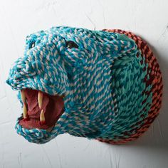 Richie would love this.. with our rock climbing ropes. Rope Wrapped Lion Mount now featured on Fab.