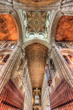 Inglaterra - Techo de la catedral de Peterborough arquitectura proto- gótica