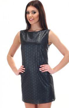 SIMMI S057 sukienka czarna Nietuzinkowa sukienka dostępna w dwóch kolorach