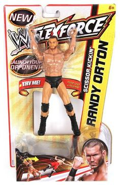 WWE FlexForce Scissor Kickin Randy Orton Action Figure World Wrestling Entertainment Flexforce Action Figure Collection: Now your favorite WWE action figures can deliver match-ending finishing moves. Just pull your FlexForce figure's arms or legs back and release to re-create real Superstar moves. Take down your opponent with Sheamus' Powerslam, Chris Jericho's Flying Clothesline, Edge's Missile Dropkick and more. Reenact these moves and more with FlexForce action figures.