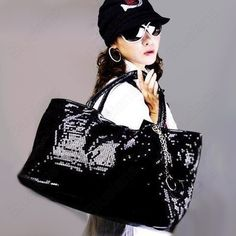 Discount China china wholesale New Designer Lady Shoulder Bag s Paillette Women Large Tote Sling Black Silver Gold [41078] - US$21.24 : DealsChic