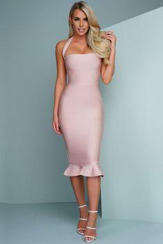 Halter Top Bandage Midi Dress