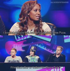 Never Mind The Buzzcocks - Mel B worked at Pizza Hut before or after Spice Girls? British Sitcoms, British Comedy, Social Work Humor, Troubled Teens, The Mighty Boosh, Moving To The Uk, Noel Fielding, British Humor, Mind The Gap
