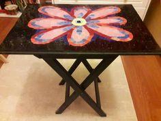 Mosaic Coffe Table / Çiçekli Mozaik Sehpa Mosaic Coffee Table