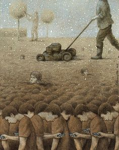 30 Illustrations By Pawel Kuczynski Showing What's Wrong With Modern Society The Polish artist Pawel Kuczynski is an absolute master, combining satire Satire, Satirical Illustrations, Meaningful Pictures, Illustrator, Les Religions, Social Art, Social Media, Critique, Political Art