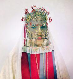 Norwegian Artist Damselfrau Creates Otherworldly Masks From Recycled Materials Headdress, Headpiece, Geisha Hair, Japanese Geisha, Masks Art, Fashion Mask, Textiles, Headgear, Recycled Materials