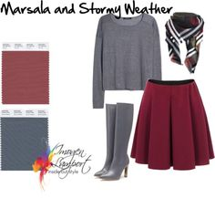 marsala and stormy weather   Ooooo! I love this pairing of marsala and stormy weather! A perfect mix of Pantone colors.