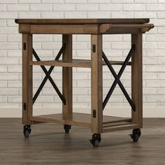 Found it at Wayfair - East Palo Alto Kitchen Cart with Wooden Top
