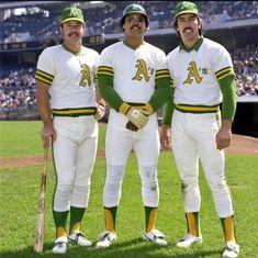 Gene Tenace, Reggie Jackson and Ray Fosse