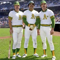 Gene Tenace, Reggie Jackson and Ray Fosse