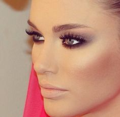 A soft grey smokey eye is the ultimate in party glamour!