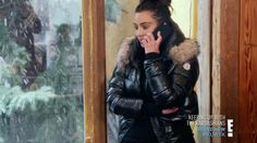Kim Kardashian West with Moncler Alpes Quilted Fur Hood Down Jacket in Keeping Up With The Kardashians - Season 12 Episode 8 Puffy Jacket, Season 12, Down Coat, Khloe Kardashian, Moncler, Snowboarding, Cool Girl, Winter Fashion, Jackets For Women