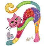 16 Ideas Embroidery Cat Pattern Manualidades For 2019 Applique Patterns, Applique Quilts, Applique Designs, Embroidery Applique, Quilt Patterns, Machine Embroidery, Embroidery Designs, Applique Tutorial, Embroidery Patches