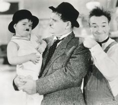 Laurel and Hardy with Little Rascal