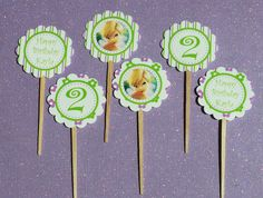 tinkerbell cupcake toppers - Google Search
