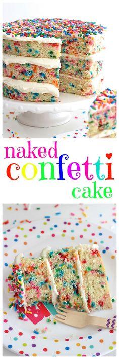 Naked Confetti Cake