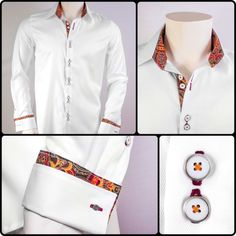 Anton Alexander Holiday Designer Dress Shirts: Autumn Fused  Perfect Men's Shirt for Holidays!