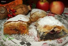 Katalin konyhája: Tökös-mákos, sütőtökös és almás-sütőtökös rétesek