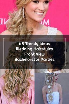 68 Trendy Ideas Wedding Hairstyles Front View Bachelorette Parties Wedding Hair Side, Bachelorette Parties, Wedding Hairstyles, Hair Styles, Party, Ideas, Fashion, Hair Plait Styles, Moda