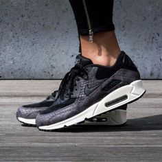 Nike Nike Air Max 90 Mid Winter Imprimer Nuit Black Silver