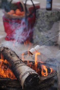 roasting marshmallows!