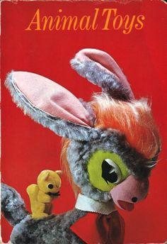animal toys, vintage 1968 children's book by akihiko tsutsumi
