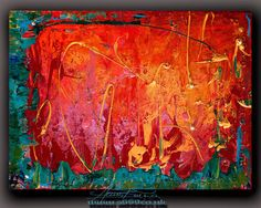 Modern Multicolour Abstract Painting Original