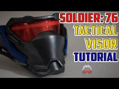 Soldier 76 Mask Tutorial Overwatch Cosplay - YouTube