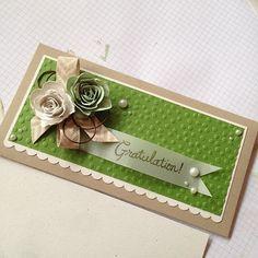 Gutscheinverpackung mit Spiralblumen