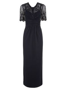 LACE TOP EVENING DRESS