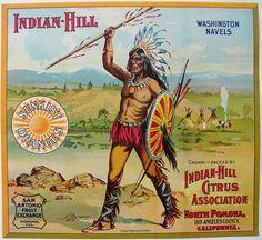 Indian Hill Washington Navels (Oranges) 1915 - Indian Hill Citrus Association, San Antonio Fruit Exchange - North Pomona, CA