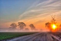 Counrty Road Sunrise, Salisbury Md