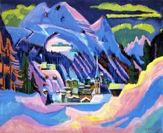 Davos in Snow - Ernst Ludwig Kirchner 1923