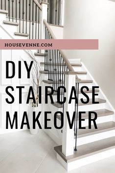 A DIY hardwood staircase makeover with tips and tricks to get a profession and cost effective result! Decor Style Home Decor Style Decor Tips Maintenance Home Improvement Projects, Home Projects, Staircase Design, Staircase Ideas, Hardwood Stairs, Staircase Remodel, Staircase Makeover, Home Remodeling, House Design